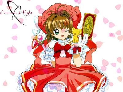 That would have to be Sakura from Cardcaptor Sakura. I fell in 爱情 with her.