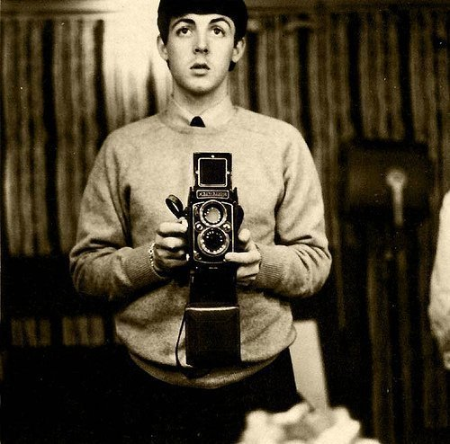 Young Paul McCartney.