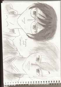 A pecil picture of kyoya and tamaki par me:)