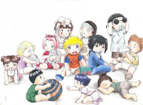 ninja team from hidden leaf village..