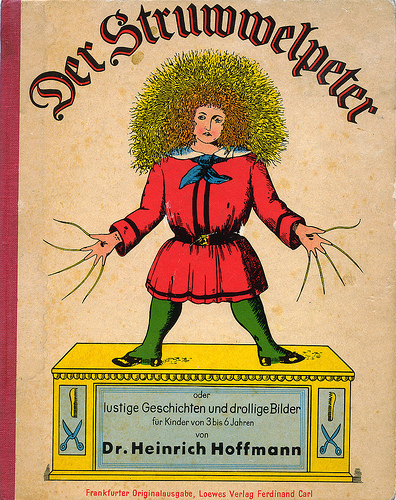 "The लेखक is called Heinrich Hoffmann and the book is titled ""Der Struwwelpeter."" Here is wiki info on him too if आप want to learn और about him. http://en.wikipedia.org/wiki/Heinrich_Hoffmann_%28author%29"