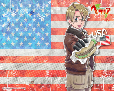 America! ;D (*points to picture* only American picture i have XD , from an anime show, gomenasai)