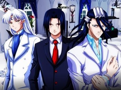 Mine are: (not in any order..) 1.Kakashi Hatake 2.Byakuya Kuchiki 3.Fai d Flowright 4.Sesshomaru 5.Itatchi Uchiha