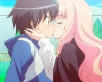 Saito and Louise from ZERO no Tsukaima