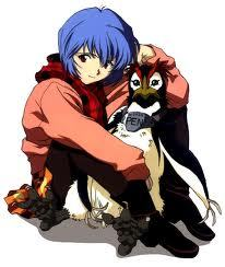 there are too many blue-haired character, but i like rei ayanami from evangelion best :P