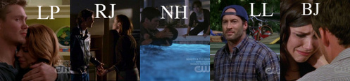 1. Lucas and Peyton - Umm...Talking about whether they should go through with the pregnancy or not. One Tree Hill(6x17)