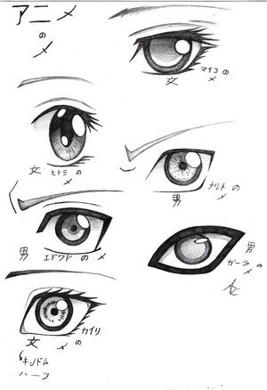 I don't know if anda consider any of these Gothic but there anda go, some eye designs ^^ I would draw one but it'd take too long *shrugs*