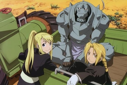 definetely edward dduuh and al and i guess winry to shes cool :D al used to be blonde when he was human so im putting him in there to haha :D oih and probably lt.hawkeye to shes awesome