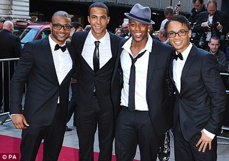 JLS!!! Especially Aston Merrygold (the one on the far right)