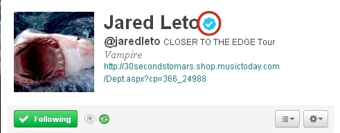 """Yes, it does. The real ones are for Berühmtheiten :) (singers, actors, etc.) When I say """"real ones"""" I'm talking about that little blue bubble with the white checkmark on it. Example: This is Jared Leto's twitter. How Du know is the real Jared Leto? Easy, the verification mark :)"""