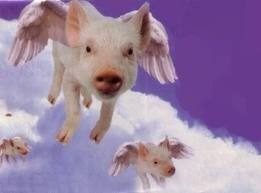 ...When pigs fly... Oh wait, they do...