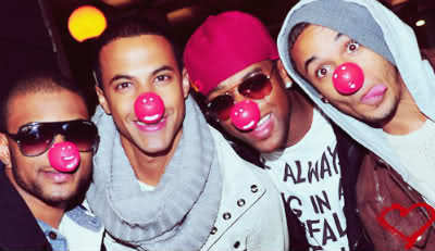 JLS (The Band in the piccy) and Aston Merrygold (The One on the far Right)