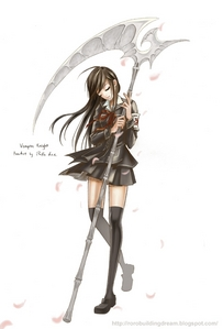Yuki पार करना, क्रॉस and her awsome scyth!!!