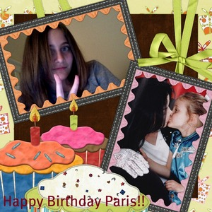 Happy Birthday Paris!!!! I'm sure that your daddy is so proud of you!! and he's watching 你 smiling from Above!!! We will always 爱情 你 and support you!!!!!