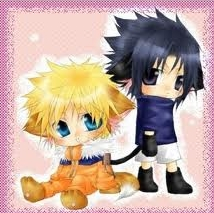 naruto and Sasuke with cat ears!:D it's so cute!=3