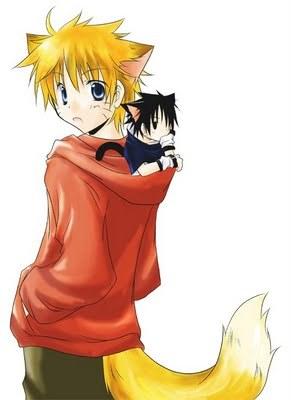 naruto nd sasuke cute:3