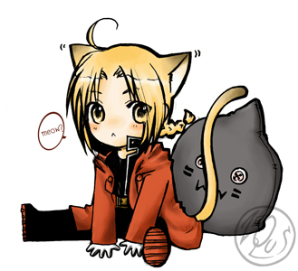 I found me a neko Edward Elric! I have so many favorito! characters & he's one of them!