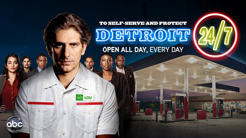 This Foto is pretty stupid I admit, but it's also my desktop background. for April Fools Day, abc.com made spoof posters for their shows. Lou's employees dress pretty well for working at a gas station, agree?