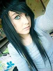 My hairs looks like this, except it has a little bleach blonde in it.