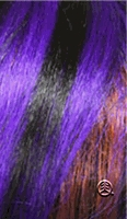 my hair is purple with black highlights (shown in pic)