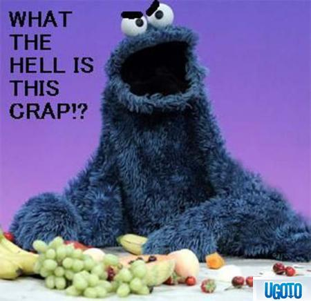 Not as much as Cookie Monster is!