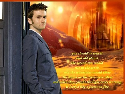 Gallifrey. Okay, it's not technically in this world, but whatever. I'll just go where the Doctor goes. I want a TARDIS right now.