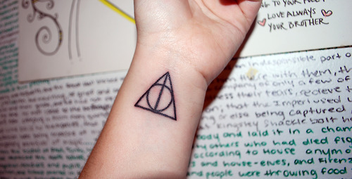 This. Although I'd probably be too scared to actually go through with it, even though it's a rather small tat. Or something else Harry Potter related (like the HP logo or a quote)