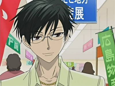 Kyoya from Ouran!^^ And I also like: Lloyd - Code Geass Kairi - Shugo Chara Ando - Yumeiro Patissiere Soubi - Loveless