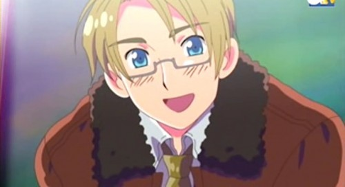 My lovely character that wear glasses (like me!)is America (Alfred F.Jones) from Hetalia!!!!!!!