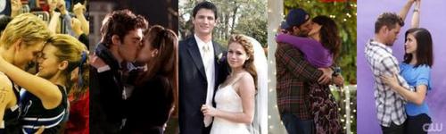 1. Lucas and Peyton  2. Rory and Jess 3. Nathan and Haley 4. Luke and Lorelai 5. Brooke and Julian