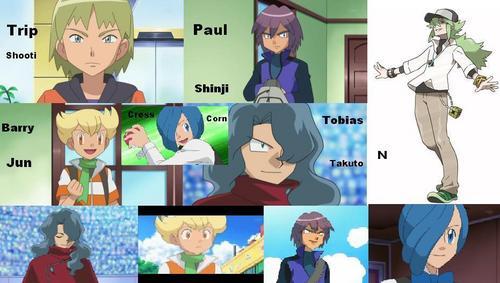 Pokemon Paul vs Trip Trip 2 Barry 3 n 4 Paul