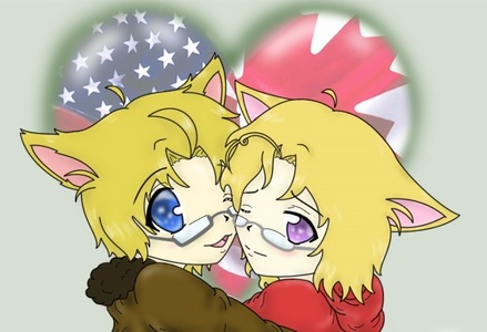 America and Canada brotherly love. X3