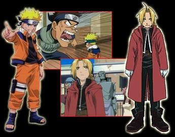 Anime!!!!!!!!!!!! like: Naruto and Fma!