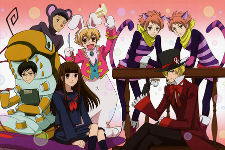 it will be ouran high school host club! ^^ oh i just Amore the twins and haruhi! ^^