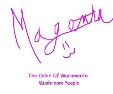My eyes are a purple and rosado, rosa color kinda like a magenta color. Sometimes a redish hot rosado, rosa color. xD