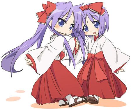 [b]Kagami and Tsukasa from Lucky Star.:3[/b]