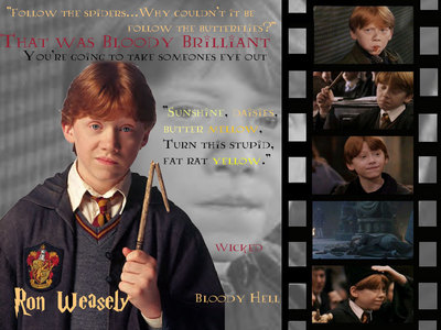 Mine changes... but yah... i switches threw about 20 different pictures from Harry Potter (because Twilight stinks) buts yah... this is my yêu thích one RON WEASLEY IS AWESOME! <3