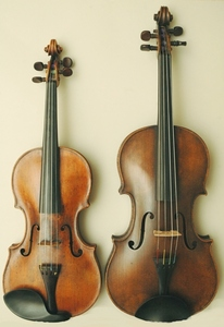 I play viola. The one on the left is a violin The one on the right is a viola I play viola.