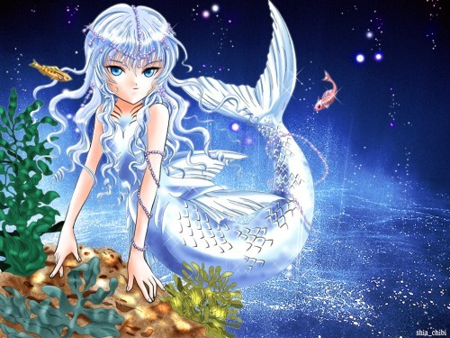 Husky (from the 日本漫画 +Anima ♥♥) He looks so adorable in his mermaid princess outfit :) (Epic 鱼 +Anima ♥♥♥♥)