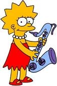 I would have to be Lisa,beacause I can play he saxophone