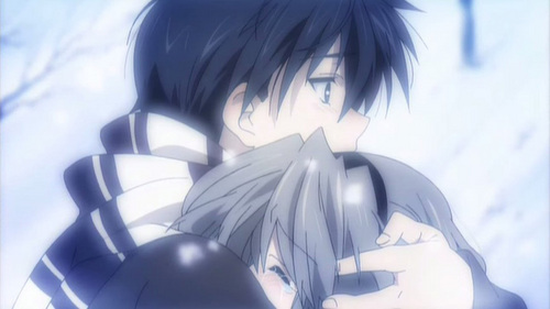 Tomoya and Tomoyo. though Tomoya and Nagisa accualy get married, i think tomoya and tomoyo make a better couple.