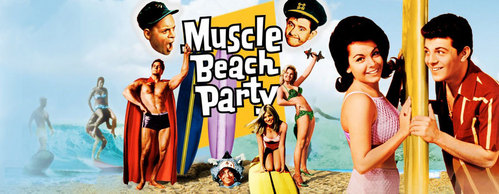 Netflix or hulu.com should have these movies. I know netflix has them all and I know that hulu at least has Muscle Beach Party.