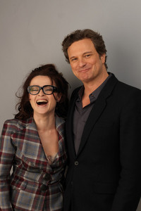 Colin Firth!!--or is that just me? I think they're cute and she laughs in every picture they're in