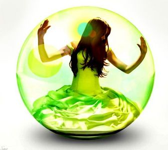 AND THIS IS........ SOME GIRL IN A BUBBLE.