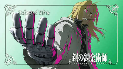 FullMetal Alchemist! That counts right? Since Edward Elric is the FullMetal Alchemist? :D