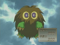 Kuriboh from Yu-Gi-Oh! Also Winged Kuriboh and Kuribon. They're all cute. They may just be cards, but the fact that they are monster cards means that they're creatures, and they are spirits.