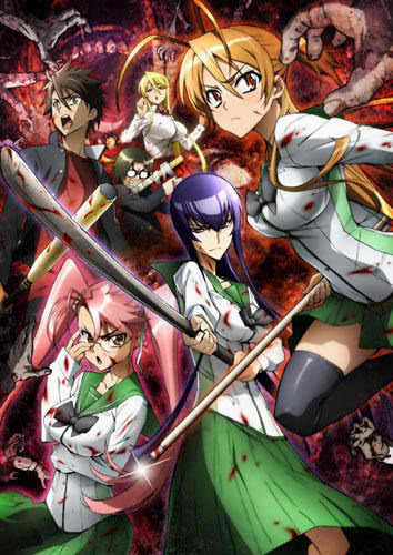Try the HIGH SCHOOL OF THE DEAD! It's all about ZOMBIES!