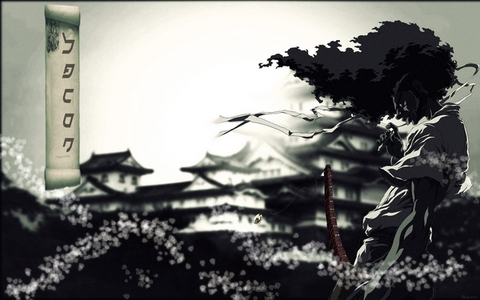 Afro Samurai, 5 episodes and a movie. It was awesome:)