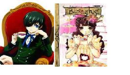 This may seem weird but Ciel from Black Butler atau Conan from Case Closed atau even Dinah from Bizenghast