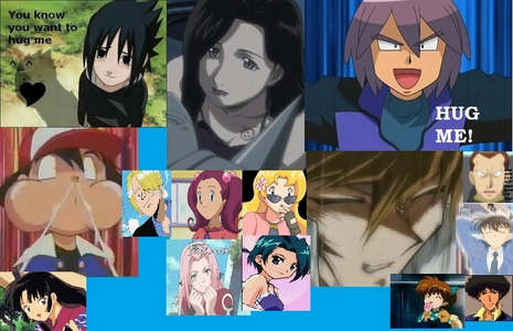 <b>Hmm..well, SLOTH<3 from FMA,Shippo & Sango,from Inuyasha,Satoshi,Senri,Sakaki-Sama,Shinji,Shu from Pokemon and the Kitteh Shu from Naruto,Sasuke Uchiha from Naruto,Shinichi Kudo from Detective Conan,Sanji from One Piece,Sakura Haruno from Naruto,Sakura from Mahoromatic,Sakura from Kaichou Wa Maid-Sama,Shizuka and Mr.Seto Kaiba from Yu-Gi-Oh!,BOTH Sakura's from Pokemon,Spike Spiegel from Cowboy Bebop</b> wow,sorry if it's too much!:p